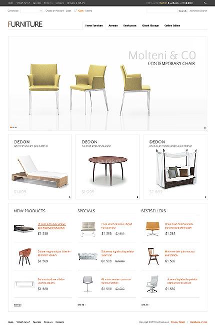 osCommerce Template 36450 Main Page Screenshot