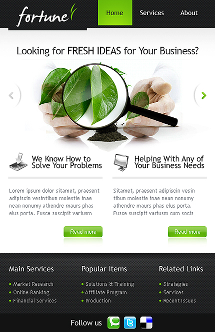 ADOBE Photoshop Template 36452 Home Page Screenshot