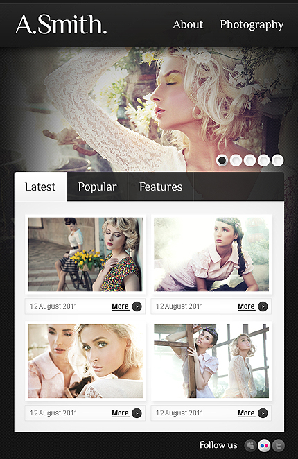 ADOBE Photoshop Template 36454 Home Page Screenshot