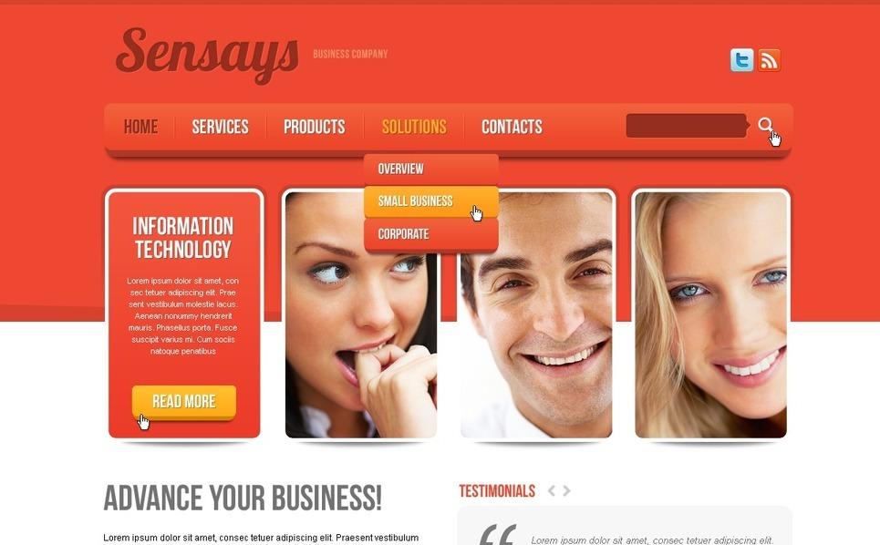 Drupal šablona Byznys a služby New Screenshots BIG