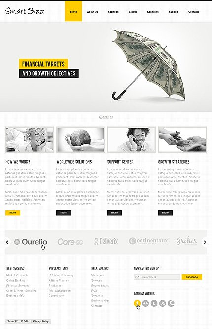 ADOBE Photoshop Template 36498 Home Page Screenshot