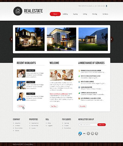 ADOBE Photoshop Template 36499 Home Page Screenshot
