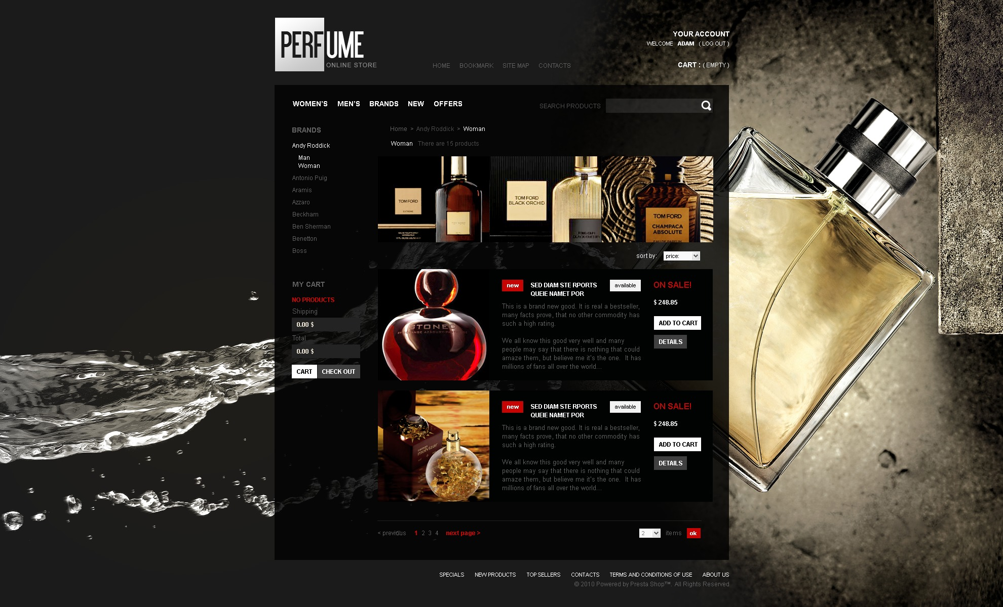 Fragrance shop online