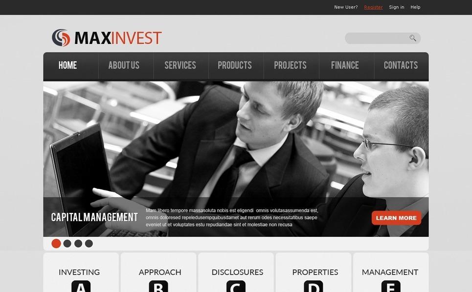 Szablon PSD #36501 na temat: doradca finansowy New Screenshots BIG