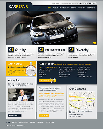 ADOBE Photoshop Template 36502 Home Page Screenshot