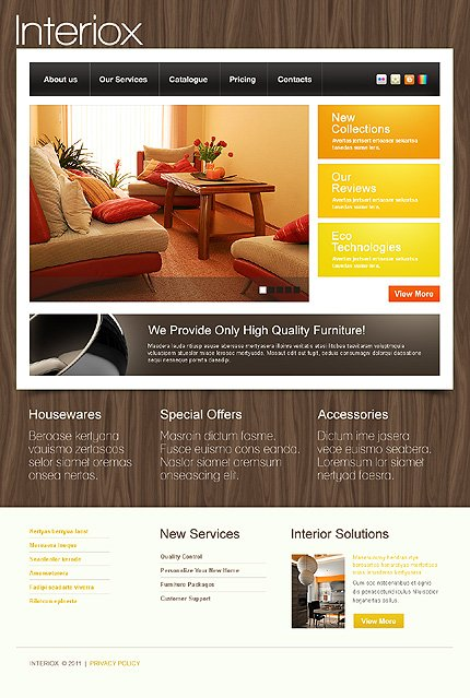 ADOBE Photoshop Template 36503 Home Page Screenshot