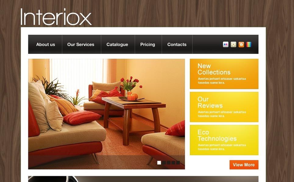 Plantilla PSD #36503 para Sitio de Muebles New Screenshots BIG