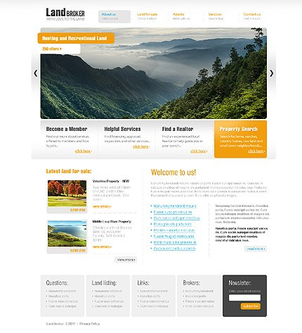 ADOBE Photoshop Template 36506 Home Page Screenshot