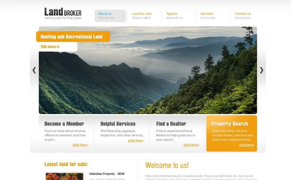 Arazi Borsası  Psd Şablon New Screenshots BIG