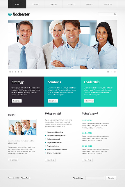 ADOBE Photoshop Template 36508 Home Page Screenshot