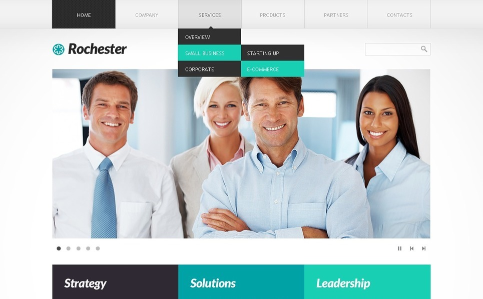 Plantilla PSD #36508 para Sitio de Negocio y Servicios New Screenshots BIG