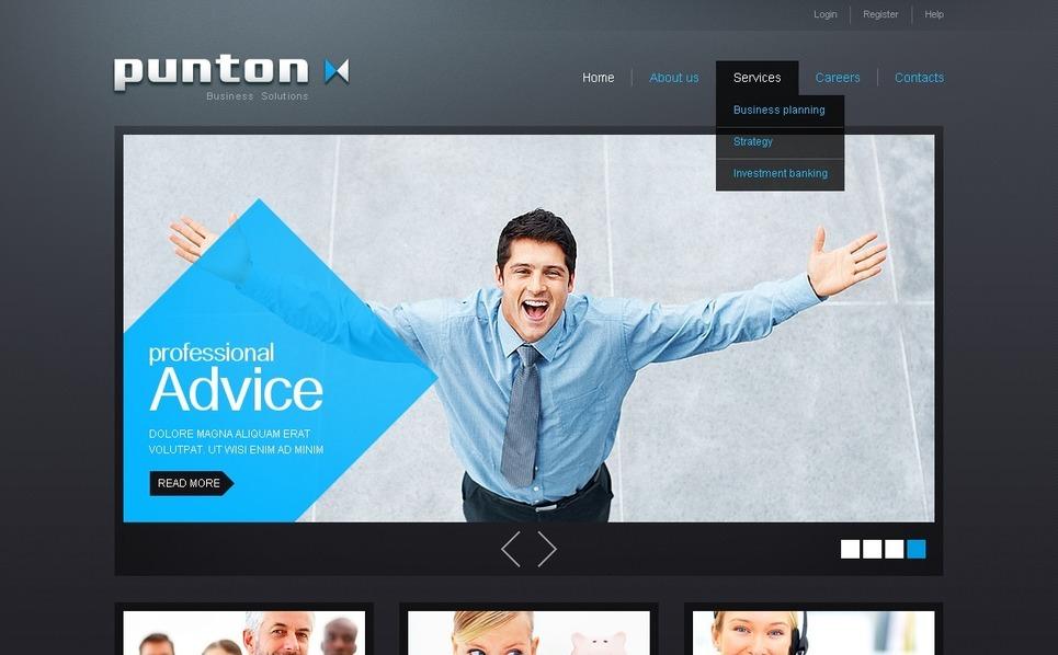 Template Photoshop  para Sites de Consultoria №36509 New Screenshots BIG