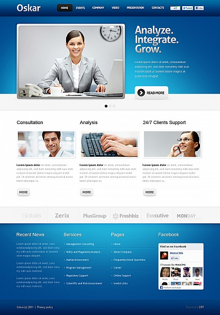 ADOBE Photoshop Template 36546 Home Page Screenshot