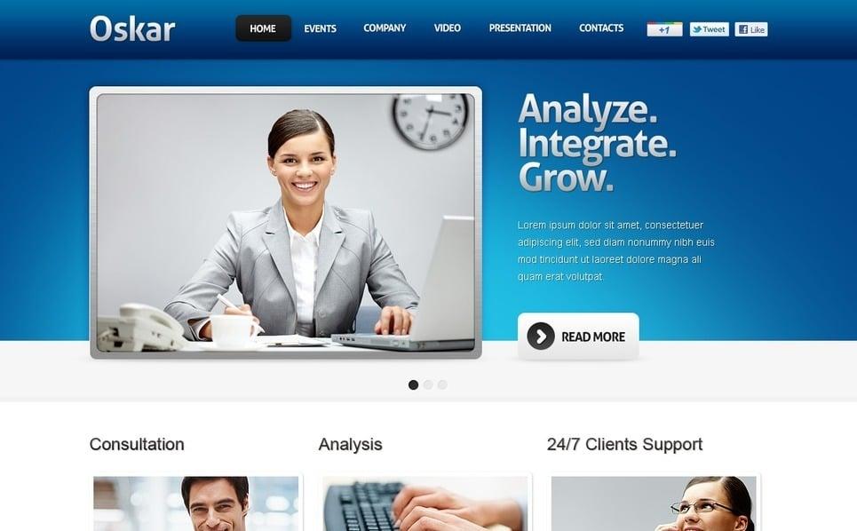 Flash CMS Vorlage für Business und Dienstleistungen New Screenshots BIG