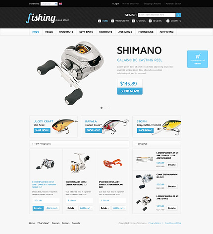 osCommerce Template 36553 Main Page Screenshot
