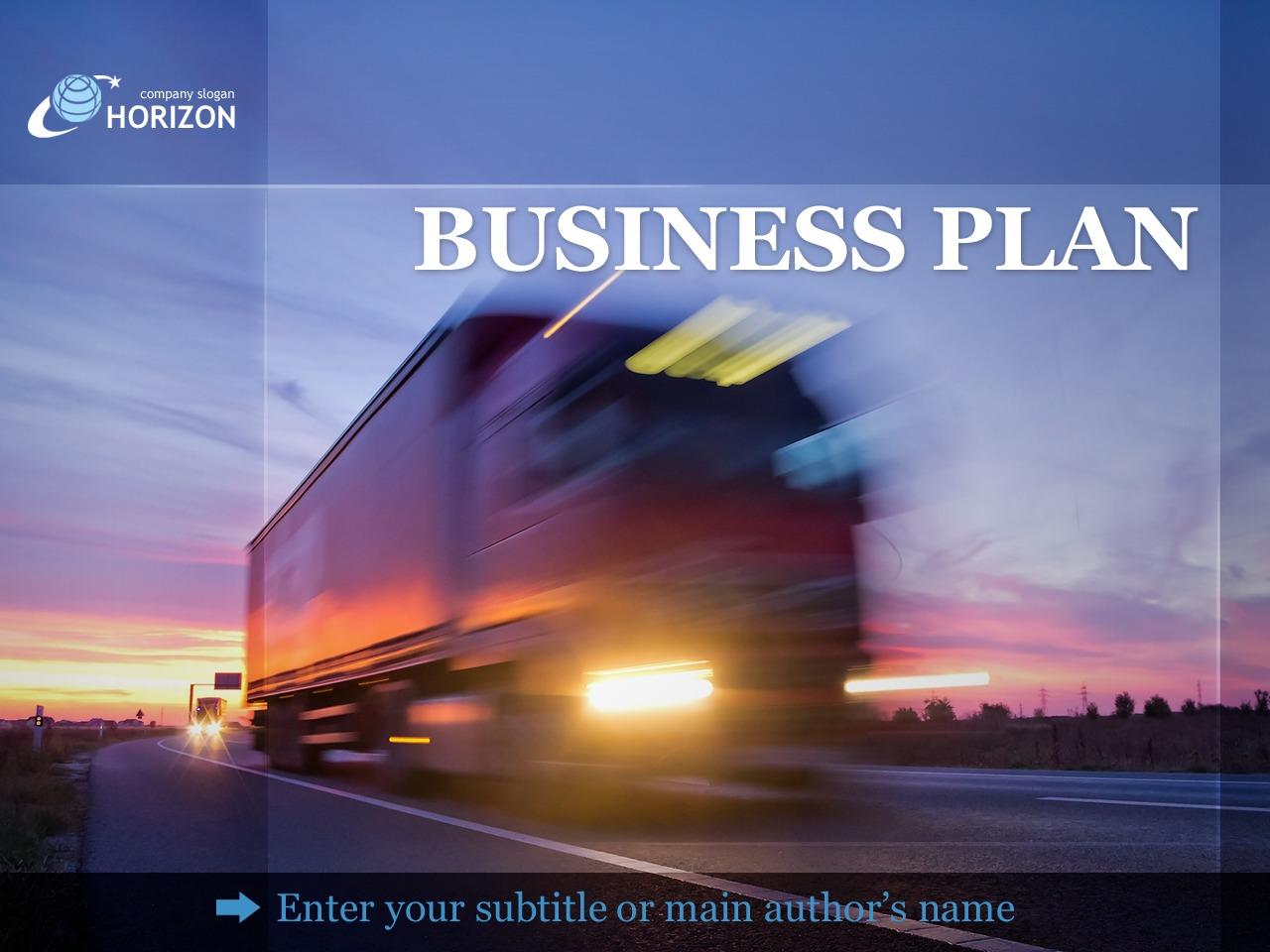 Modèle PowerPoint pour site de services de transport #36536