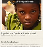 Charity Facebook  Template 36613