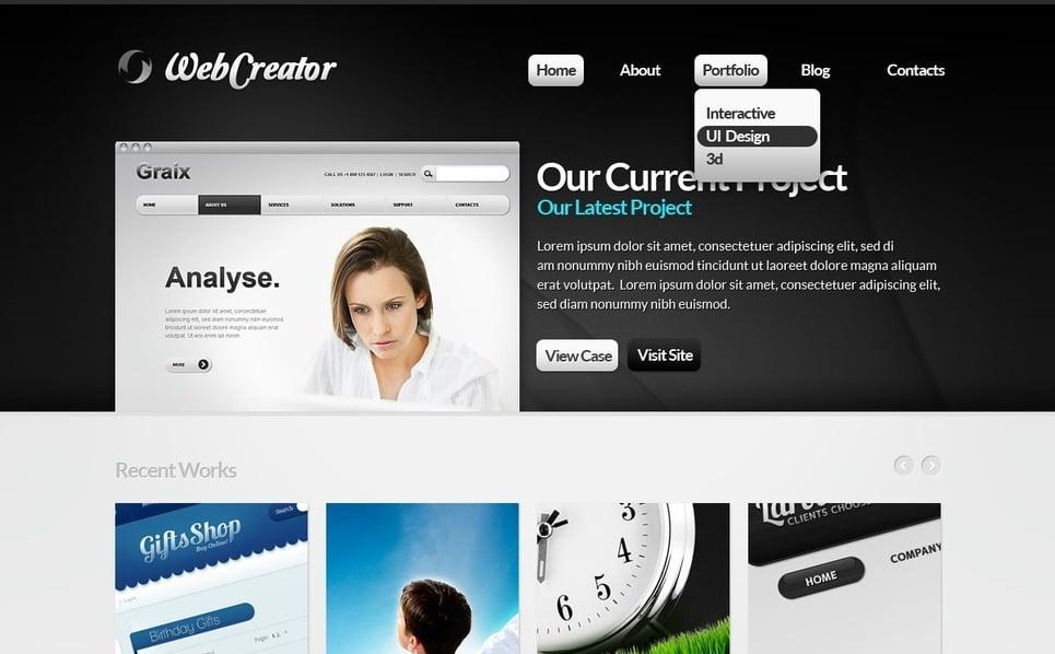 Template Drupal para Sites de Web Design №36625 New Screenshots BIG
