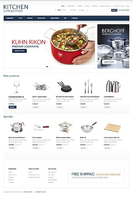 osCommerce Template 36629 Main Page Screenshot