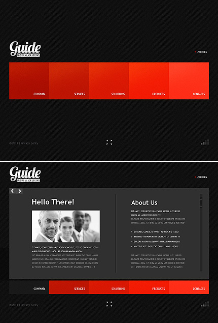 ADOBE Photoshop Template 36636 Home Page Screenshot