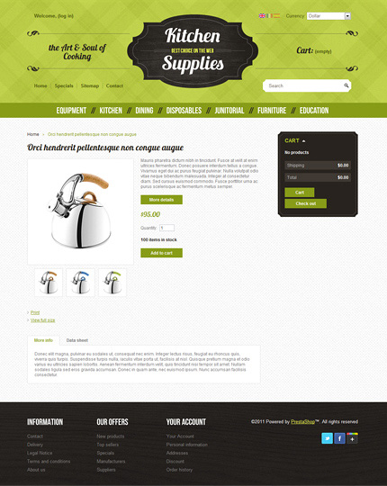 ADOBE Photoshop Template 36667 Home Page Screenshot