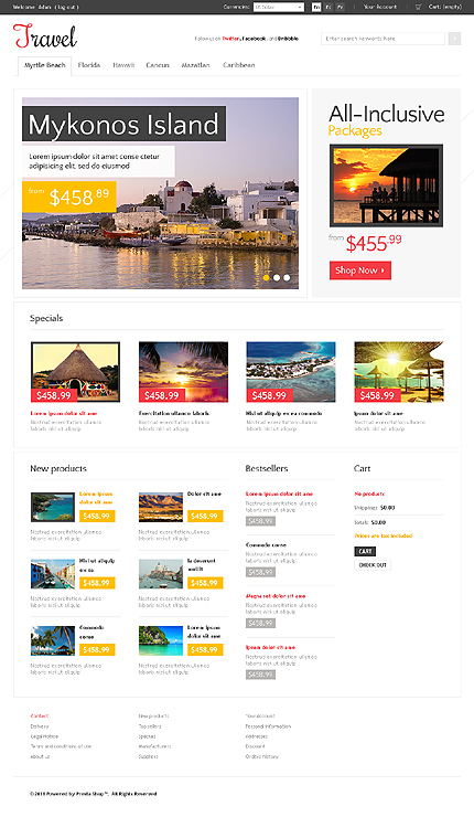 ADOBE Photoshop Template 36671 Home Page Screenshot