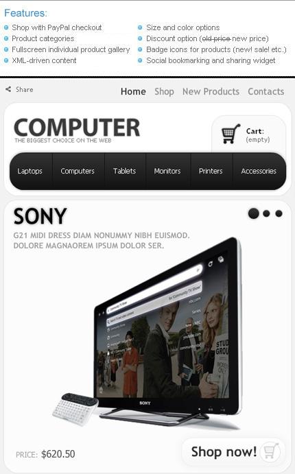 ADOBE Photoshop Template 36691 Home Page Screenshot
