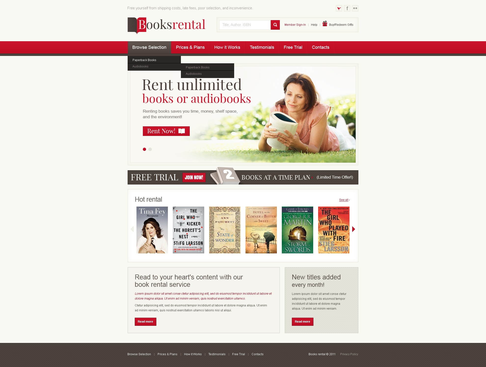 book store website template 36619. Black Bedroom Furniture Sets. Home Design Ideas