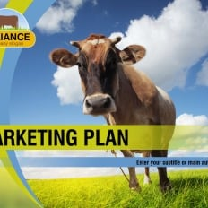 Sustainable agriculture powerpoint templates template monster cattle farm powerpoint template for agriculture toneelgroepblik Gallery
