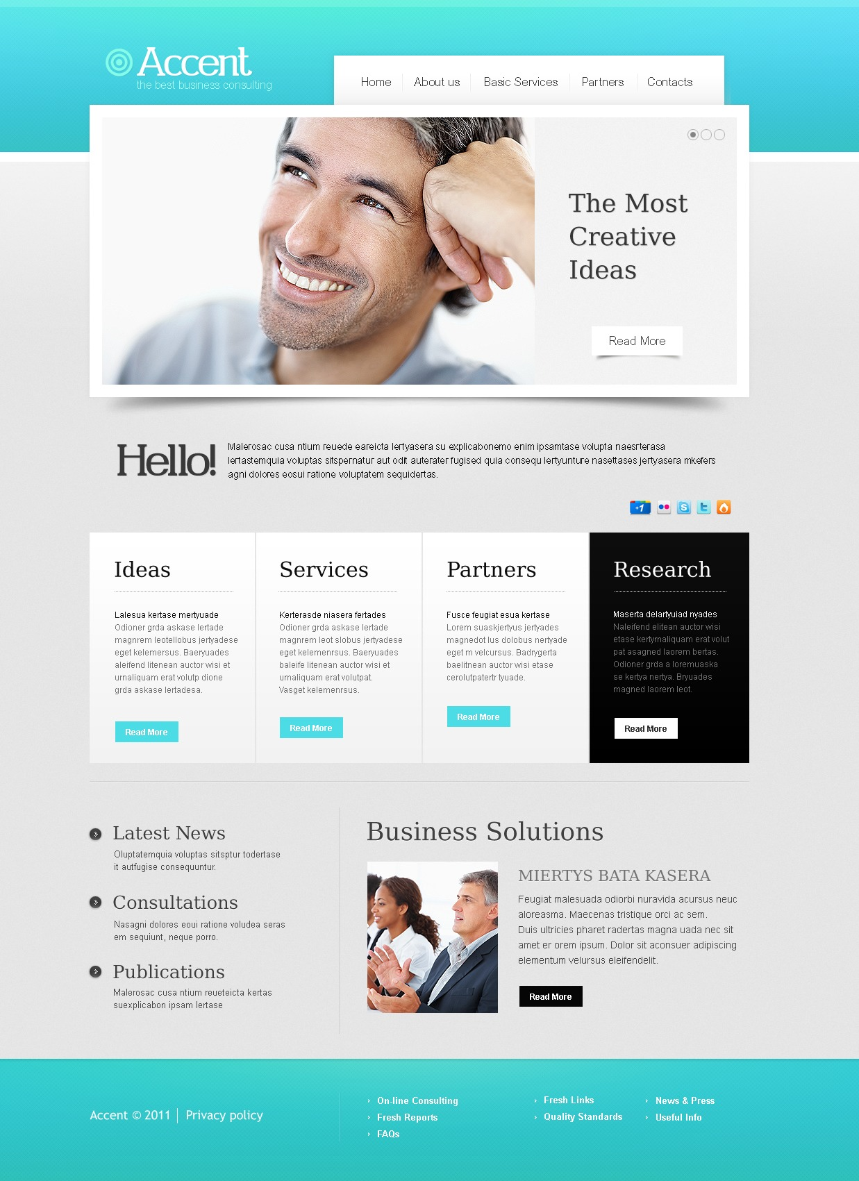 Consulting website template 36602 for Consulting website