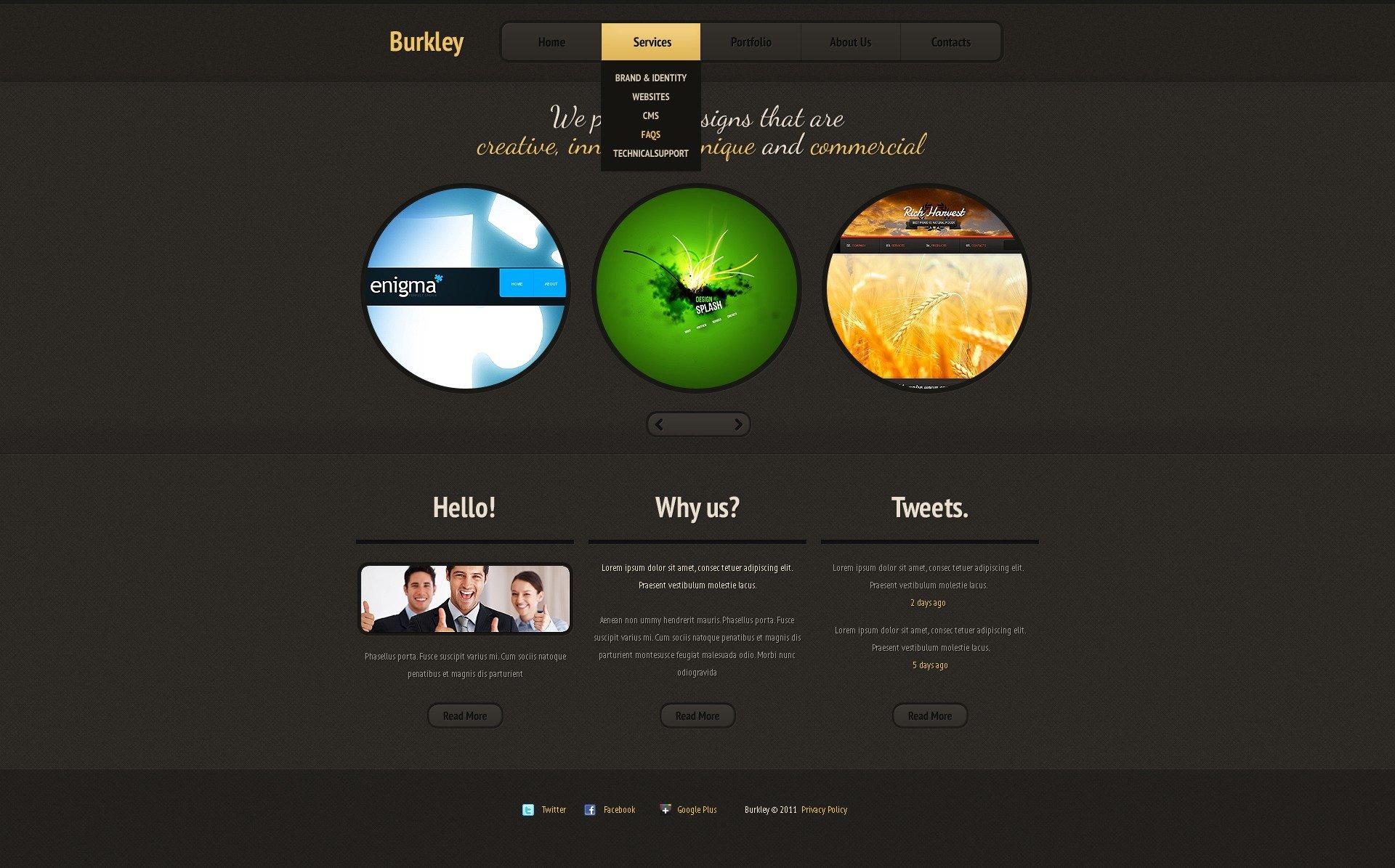 Joomla шаблон №36678 на тему дизайн студия - скриншот