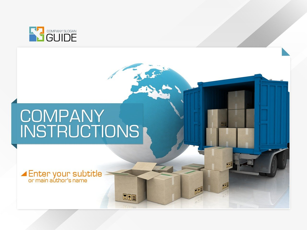 Moving Company PowerPoint Template #36682