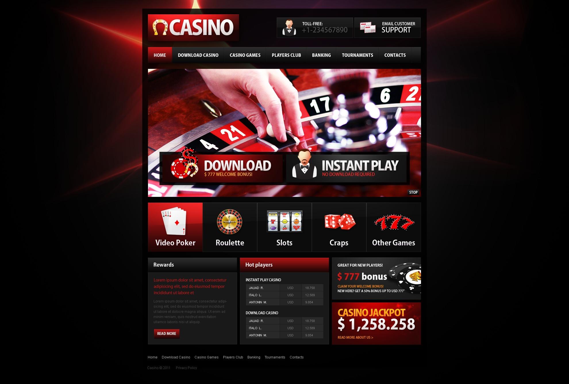 Casino Website Design