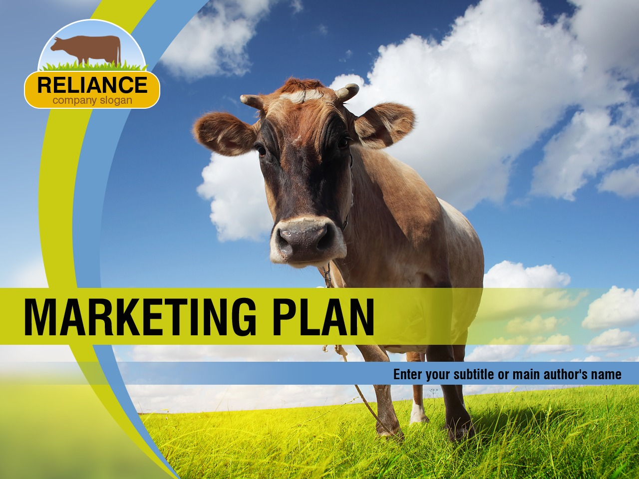 PowerPoint шаблон №36683 на тему скотоводчество