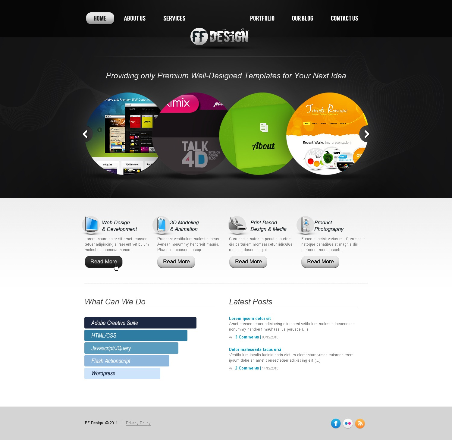Web Design Facebook Flash Template #36693