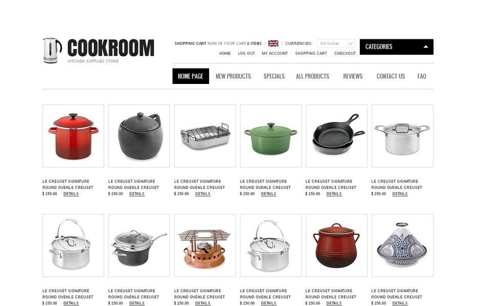 Plantilla ZenCart #36753 para Sitio de Artículos para el hogar New Screenshots BIG