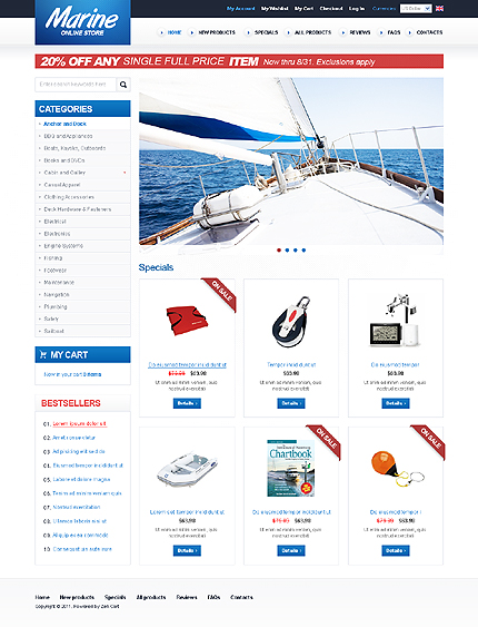 ZenCart Template 36755 Main Page Screenshot