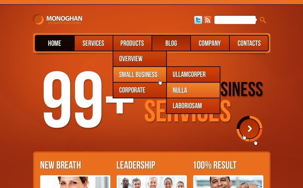 Drupal шаблон №36756 на тему бизнес и услуги New Screenshots BIG