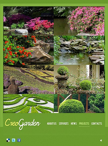 garden design facebook flash template