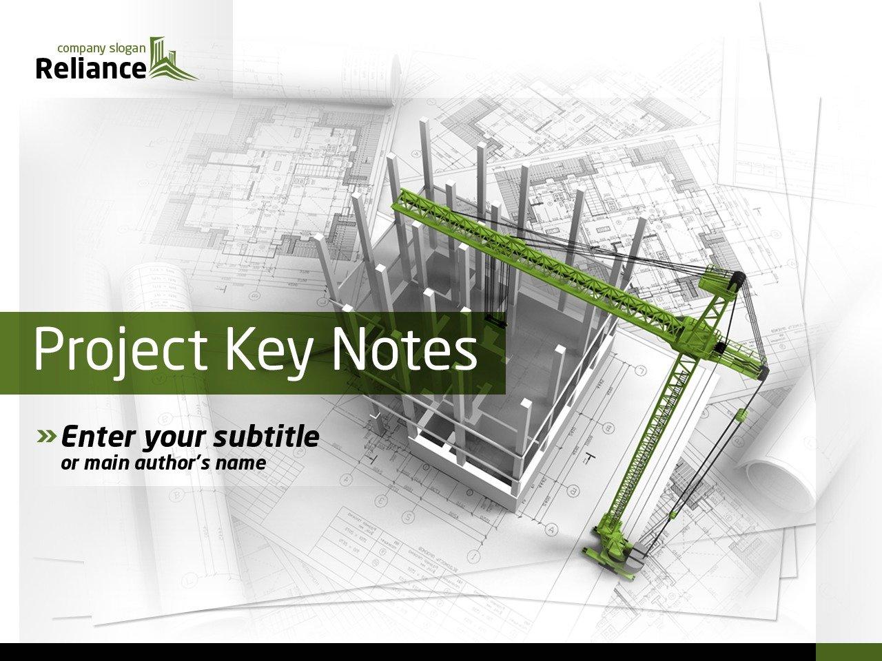 Template PowerPoint #36736 per Un Sito di Società di Costruzioni