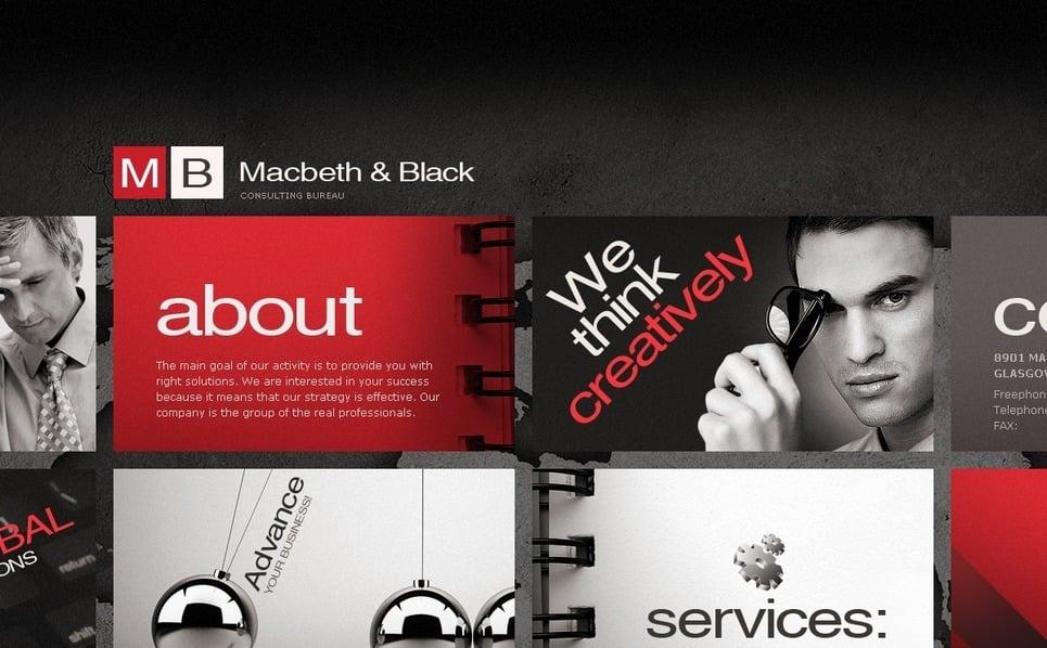Flash CMS šablona Byznys a služby New Screenshots BIG