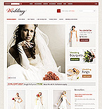 Wedding ZenCart  Template 36808