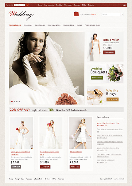 ZenCart Template 36808 Main Page Screenshot