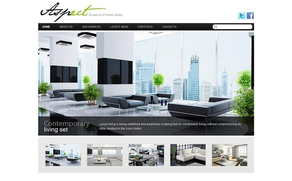Template Drupal para Sites de Design Interior №36834 New Screenshots BIG