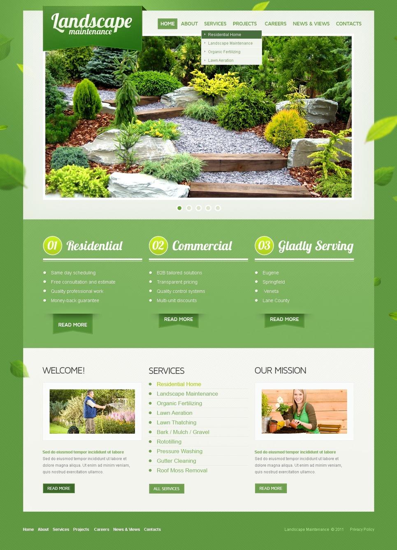 Template siti web per un sito di architettura del paesaggio for Siti web di home plan