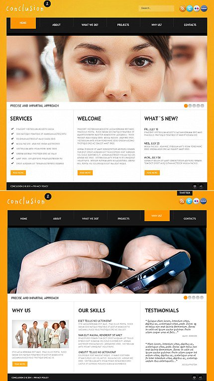 ADOBE Photoshop Template 36863 Home Page Screenshot