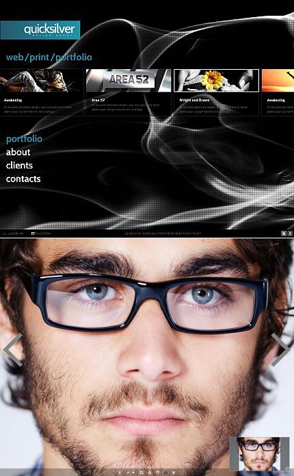 ADOBE Photoshop Template 36864 Home Page Screenshot