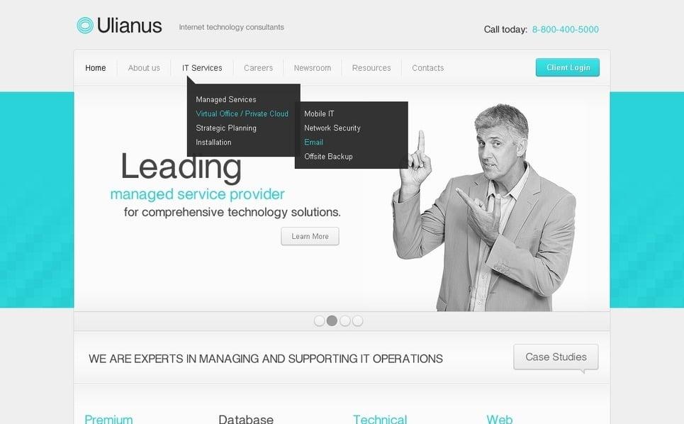 WordPress Theme für Internet  New Screenshots BIG