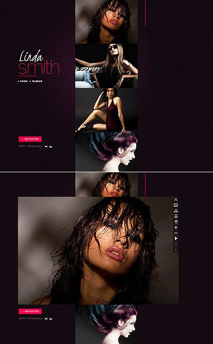Photographer Portfolio Flash CMS Template MotoCMS