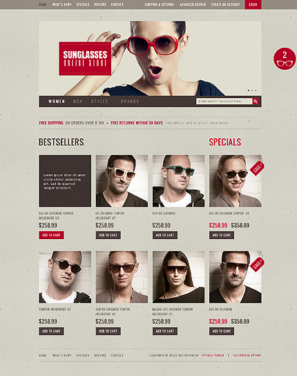 osCommerce Template 36915 Main Page Screenshot